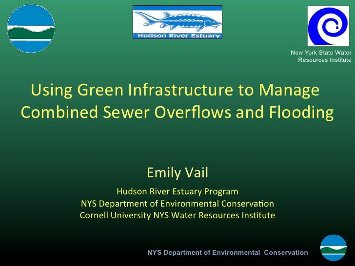 """""""Green Infrastructure to Manage Combined Sewer Overflows and Flooding"""" by Emily Vail, NYSDEC Hudson River Estuary Program"""