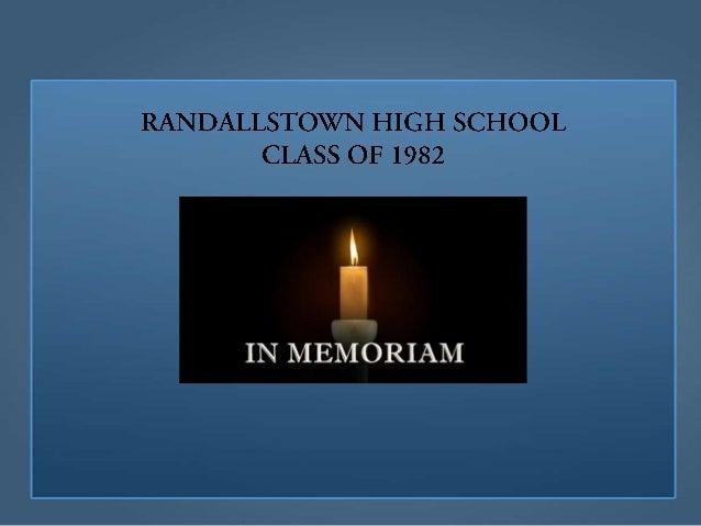 RHS Class of 1982 Alumni Memorial