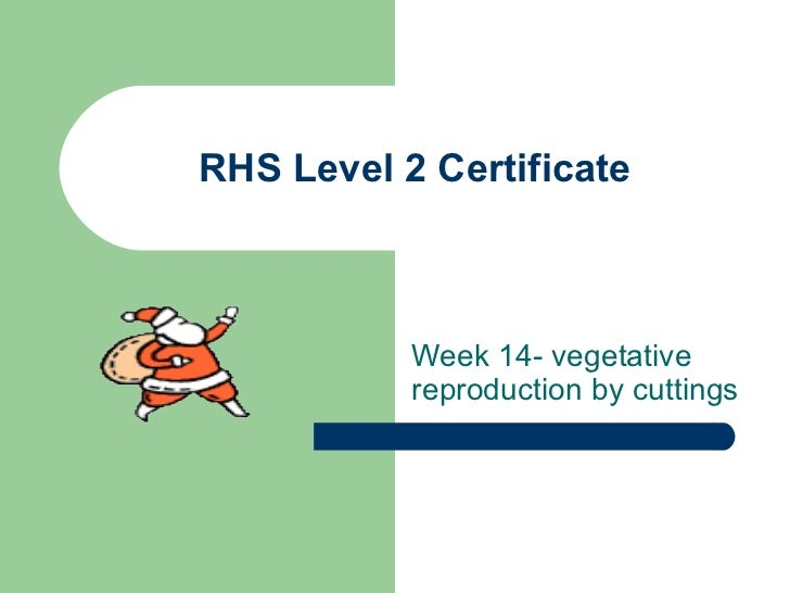 Rhs level 2 certificate year 1 session 13 overview 2011