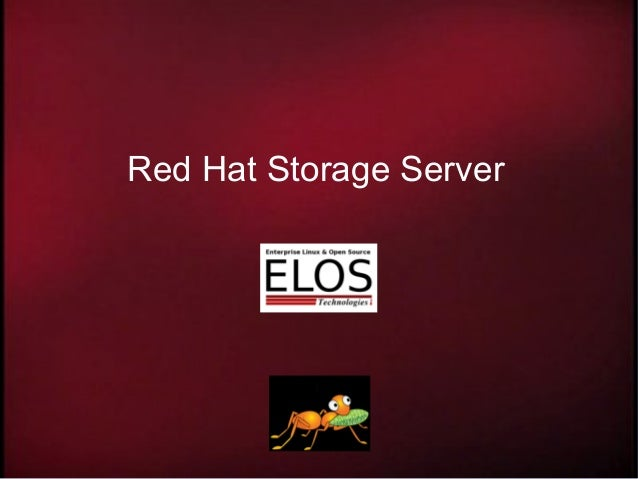 Red Hat Storage Server presentation