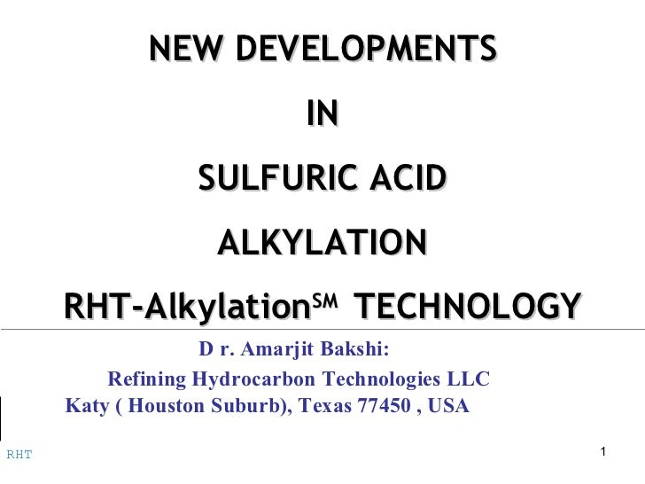 Rht Sulfuric Acid Alkylation Rht Presentation Revision 1