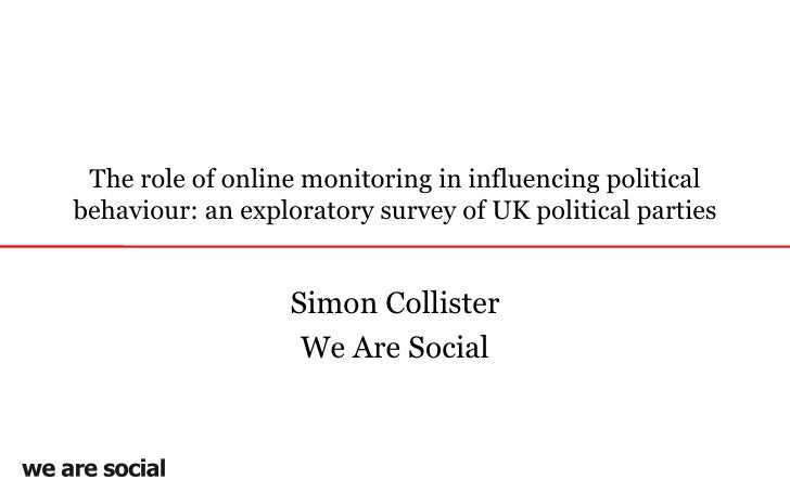 The role of online monitoring in influencing political behaviour: an exploratory survey of UK political parties