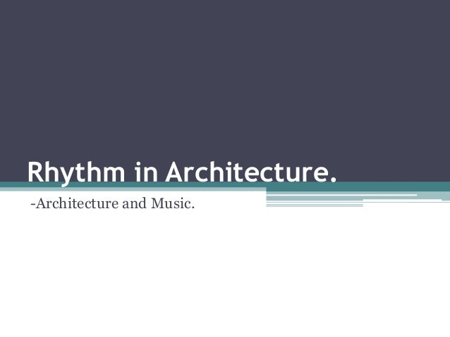 Rhythm in architecture definition images for Define architect
