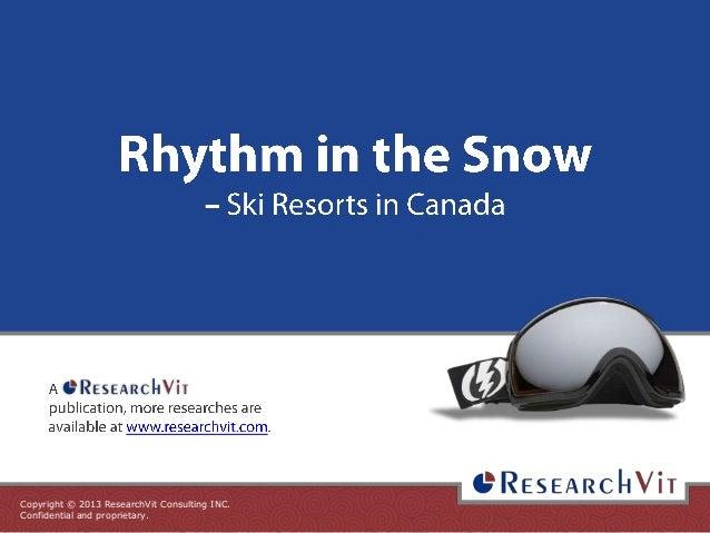 Rhythm in the Snow - Ski Resortsin Canada