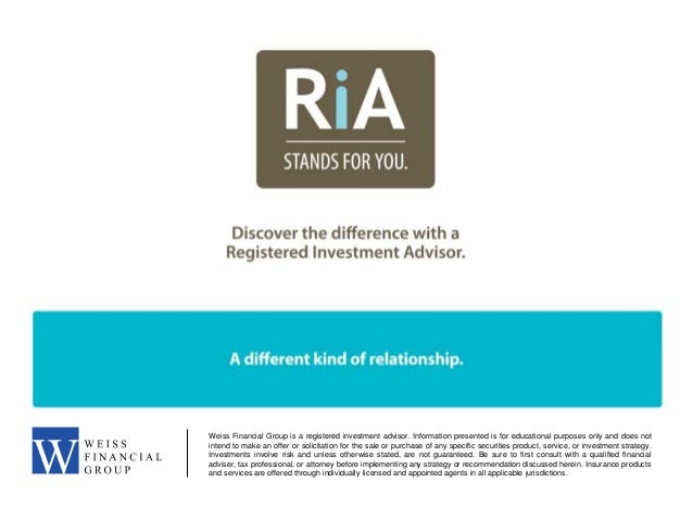 What is an RIA?