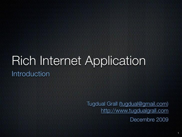 Introduction aux RIA (Rich Internet Applications)