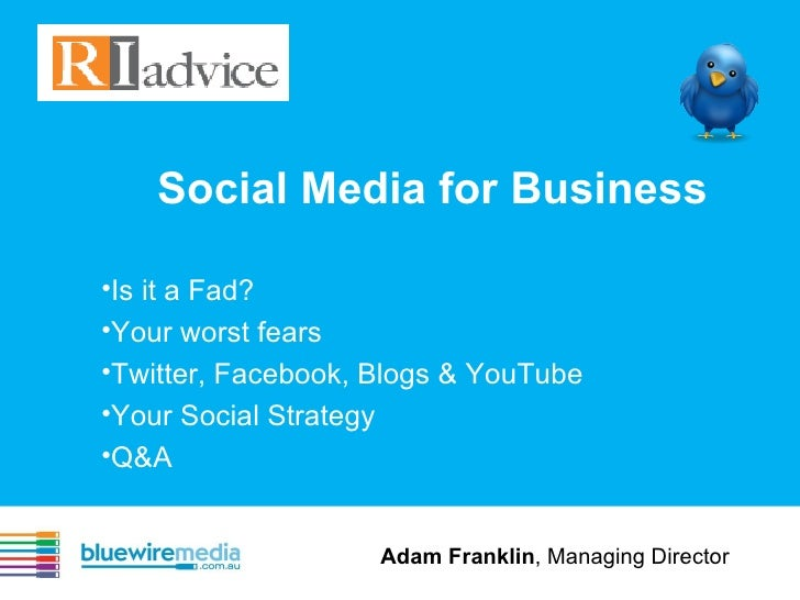 Ri advice   Social Media For Business
