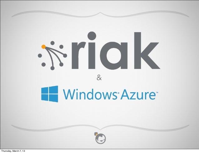 Riak   intro with azure