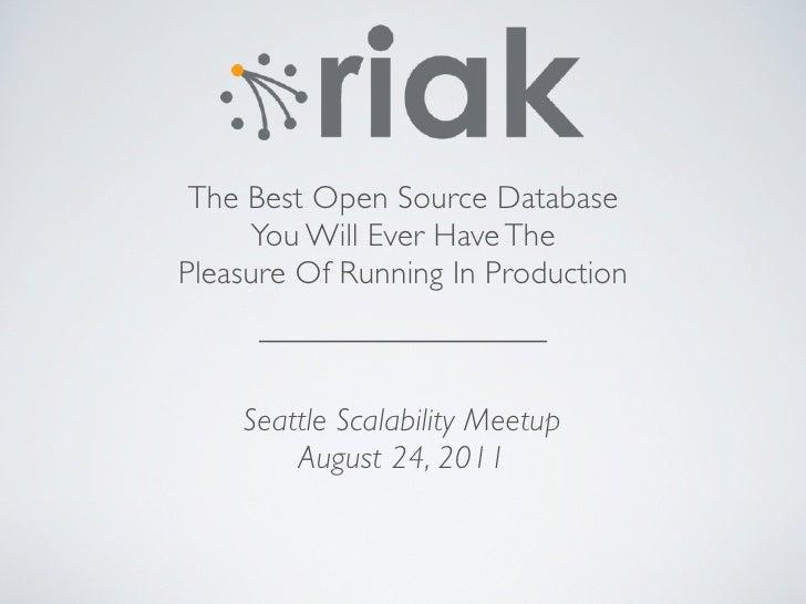 Riak seattle-meetup-august