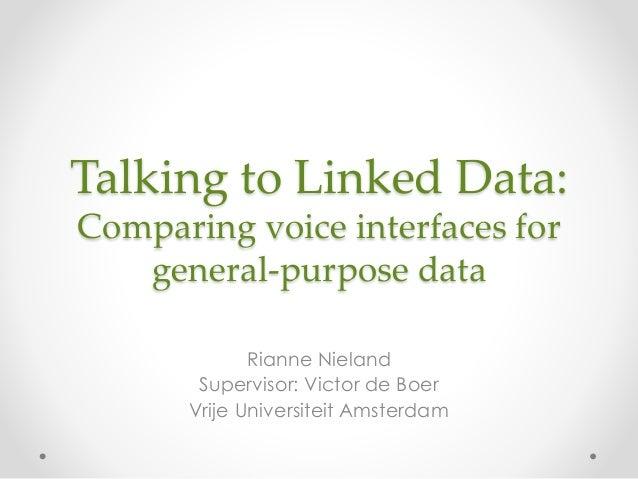 Rianne Nieland's final presentation