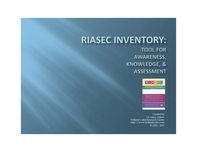 RIASEC Easy-to-Use Inventory