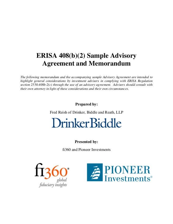 RIA Service Agreement Template 408(b)(2)