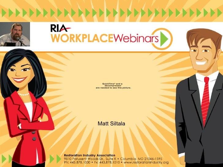 Social Media RIA Webinar
