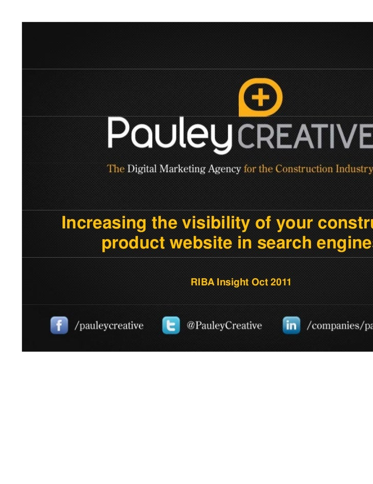 Increasing the visibility of your construction product website in search engines