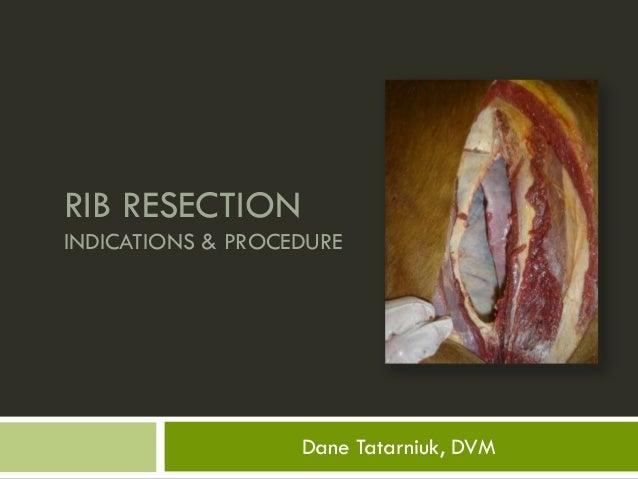 RIB RESECTIONINDICATIONS & PROCEDURE                   Dane Tatarniuk, DVM