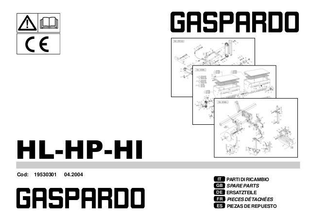 Gaspardo Ricambi hl hp-hi 2003-04 (19530301) parts catalog