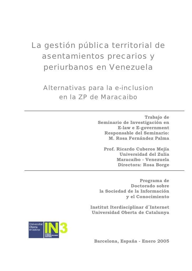 E-inclusión en la ZP de Maracaibo
