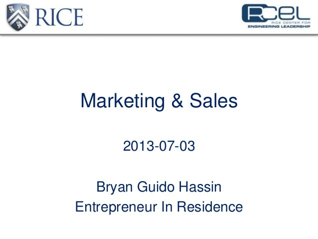 Marketing and Sales for Startups