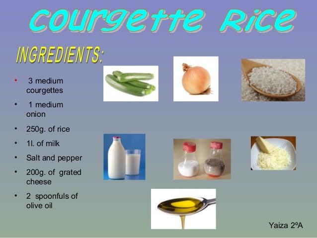 Rice + courgette (yaiza)