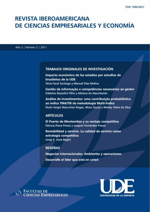 REVISTA IBEROAMERICANA DE CIENCIAS EMPRESARIALES Y ECONOMÍA  UDE - Nº 2