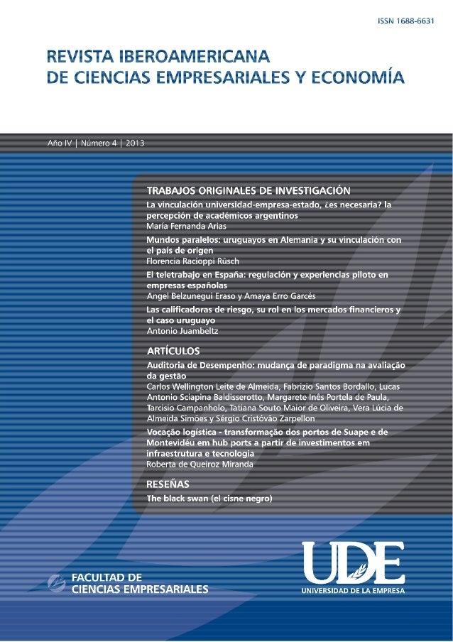REVISTA IBEROAMERICANA DE CIENCIAS EMPRESARIALES Y ECONOMÍA  UDE - Nº 4