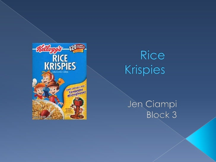 Rice Krispies were created by Eugene      Mckay for the Kellogg company, and later     marketed by Kellogg's in 1927 and ...