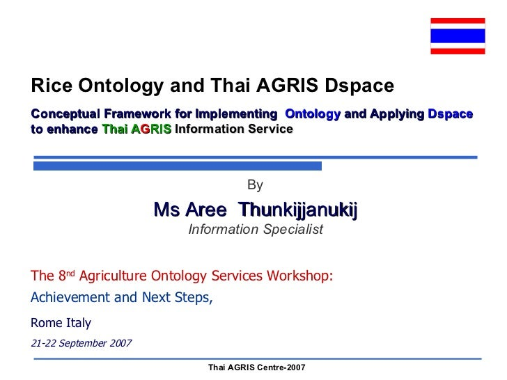 Rice Ontology and Thai agris Dspace