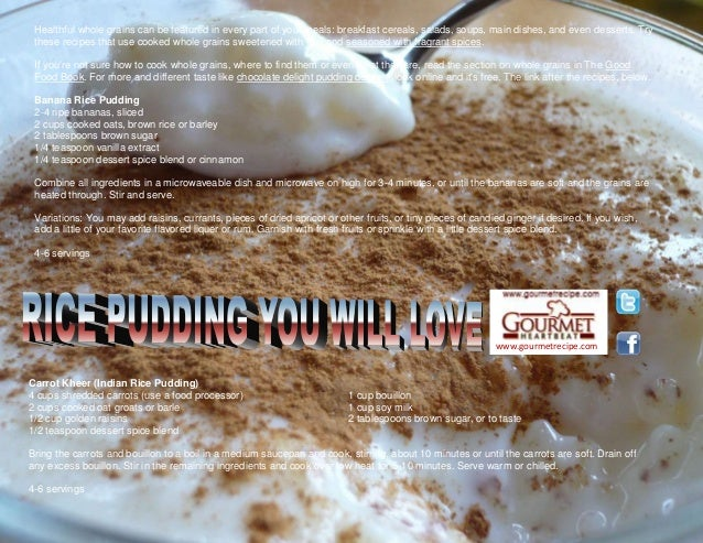 Rice pudding you will love