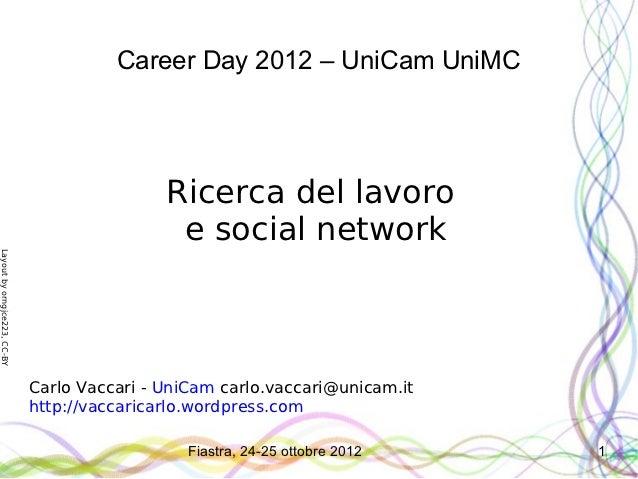Ricerca del lavoro e social network
