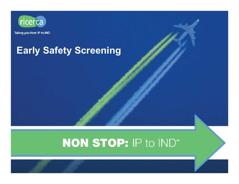 Ricerca Early Safety Assays