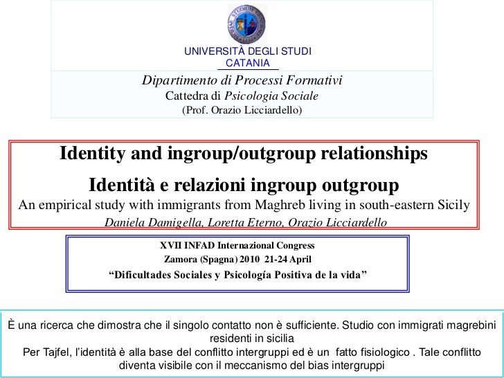 Ricerca licciardello identity and ingroup outroup relationships[1]