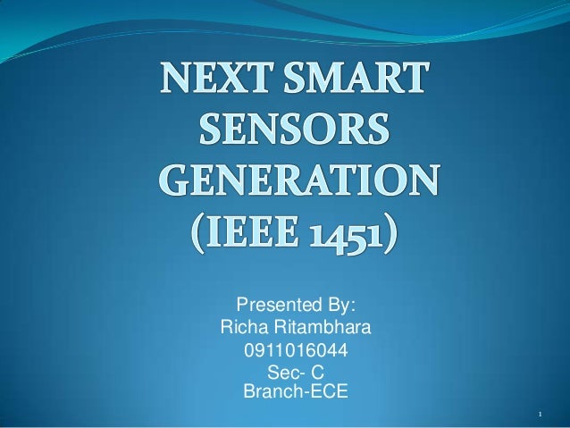 next generation smart sensor