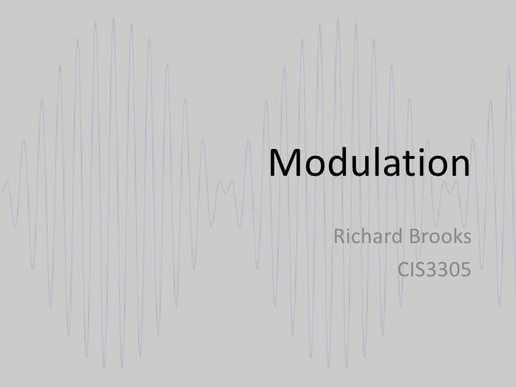 Richard Brooks Modulation