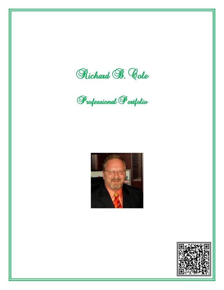 Richard B. ColeProfessional Portfolio