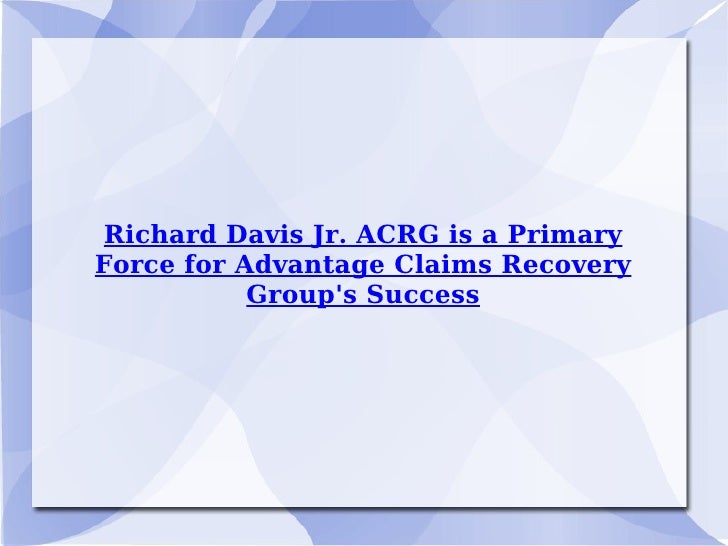 Richard Davis Jr. ACRG