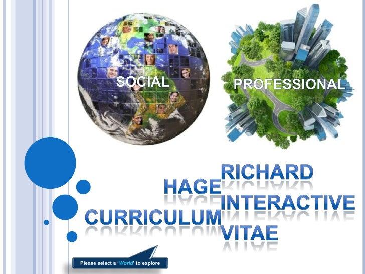 Richard Hage Interactive CV