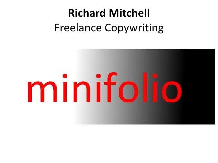 Richard Mitchell. Freelance Copywriting.
