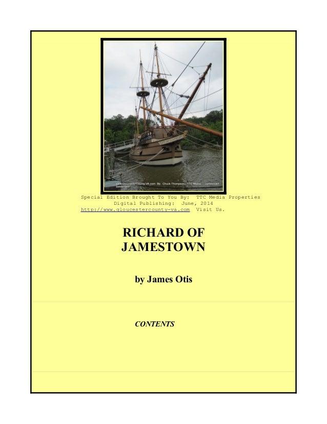 Richard of Jamestown, Virginia, 1606, Free eBook