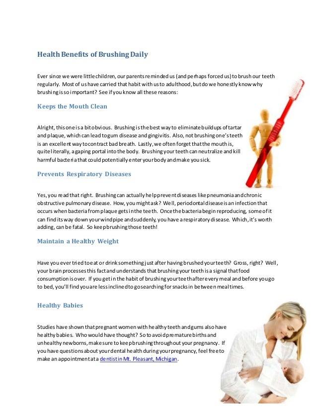 Health Benefits of Brushing Daily