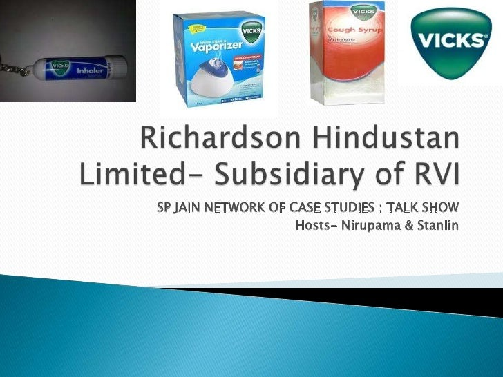 Richardson Hindustan Limited- Subsidiary of RVI<br />SP JAIN NETWORK OF CASE STUDIES : TALK SHOW<br />Hosts- Nirupama & St...