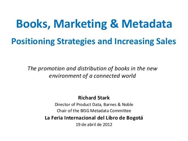 Books, Marketing & Metadata