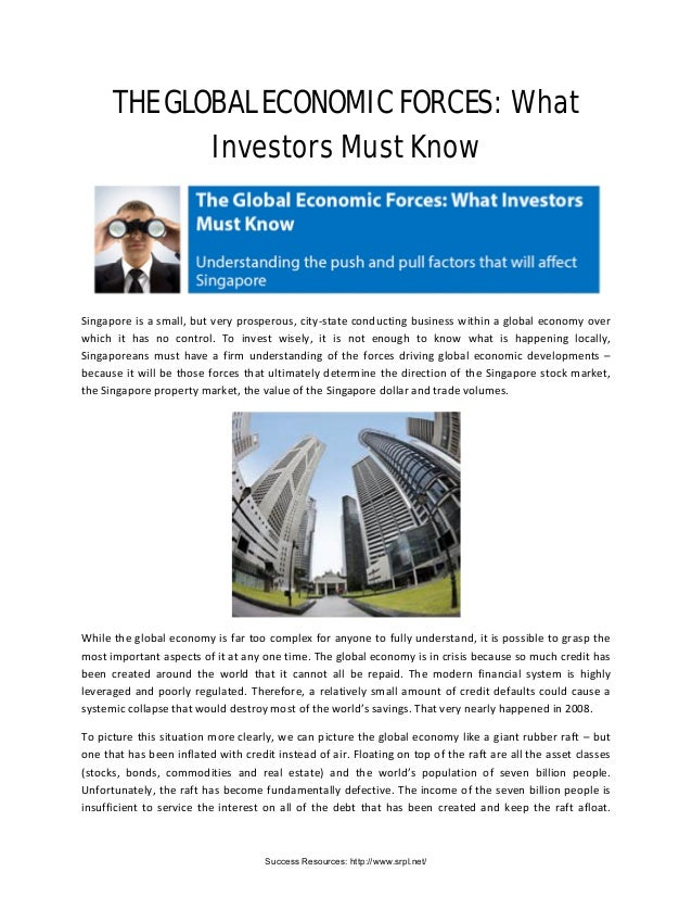 THE GLOBAL ECONOMIC FORCES: What Investors Must Know Singapore is a small, but very prosperous, city-state conducting busi...