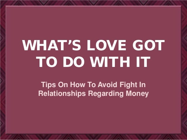 What's Love Got To Do With It | Richard tan success resources