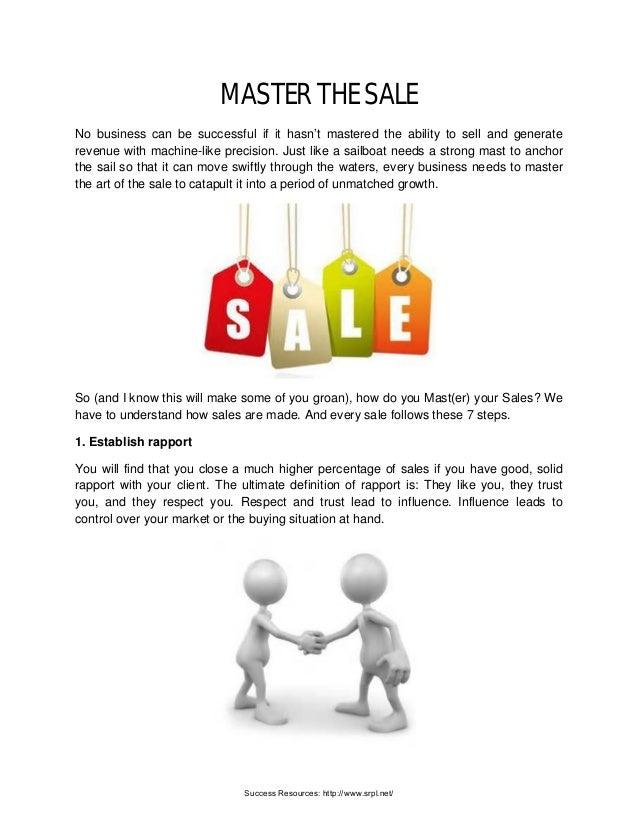 Master The Sale | Richard Tan Success Resources