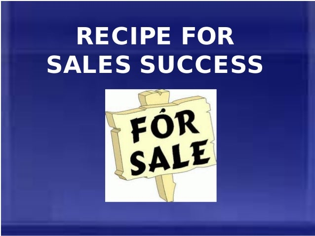 Recipe For Sales Success | Richard Tan Success Resources Scam