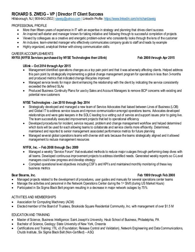 Template  Director Level Resume