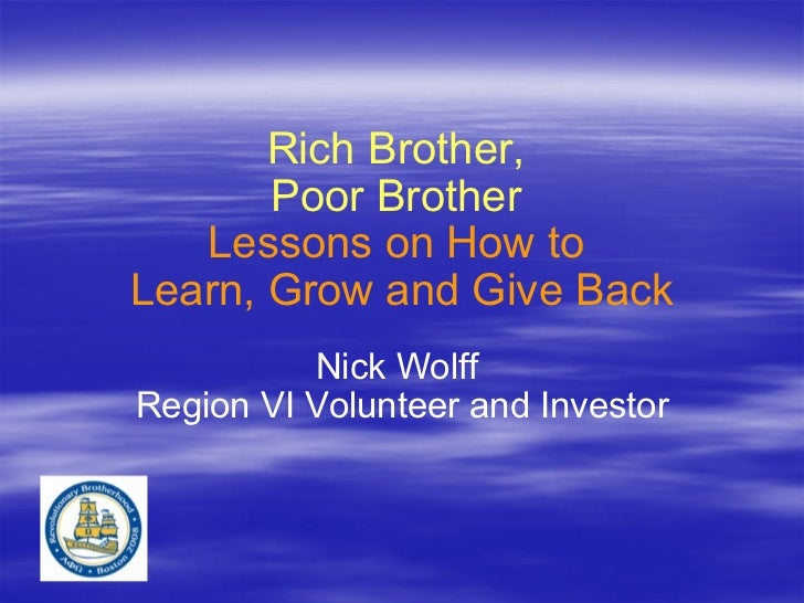 Rich brother poor_brother_national_convention_