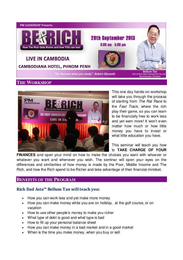BE RICH WORKSHOP Live in CAMBODIA