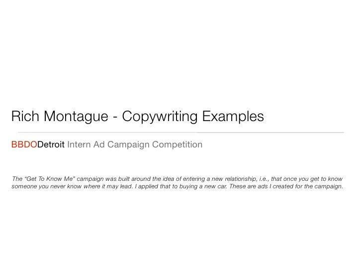 Ad Copywriting Examples
