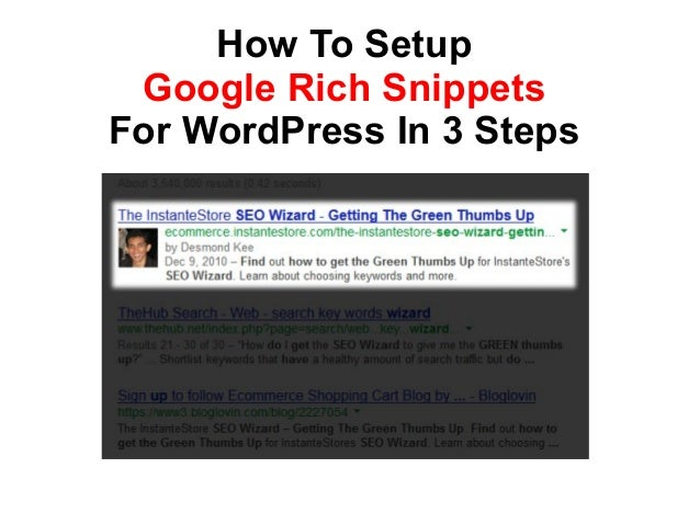 How To SetupGoogle Rich SnippetsFor WordPress In 3 Steps